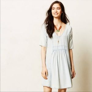 ANTHRO La Vi Sam & Lavi River Fade Chambray Dress